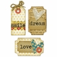 Sizzix Framelits Dies w/Stamps - Tags & Words