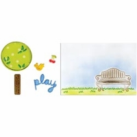 Framelits Dies w/Textured Impressions Folder - Playing In The Park