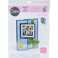 Sizzix Framelits Plus Dies By Stephanie Barnard - Square Flip-Its Card