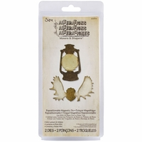 Sizzix Movers & Shapers Magnetic Dies by Tim Holtz® - Mini Lantern & Antlers