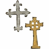 Sizzix Movers & Shapers Magnetic Dies by Tim Holtz® - Mini Ornate Crosses