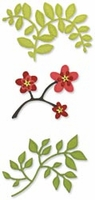 Sizzix Sizzlits Die Set - Flowers Branches & Leaves