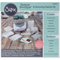 Sizzix Texture Boutique Embossing Starter Kit