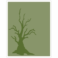 Sizzix Texture Fades By Tim Holtz A2 Embossing Folder - Branch Tree