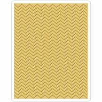 Sizzix Texture Fades By Tim Holtz A2 Embossing Folder - Chevron