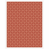 Sizzix Texture Fades By Tim Holtz A2 Embossing Folder - Courtyard