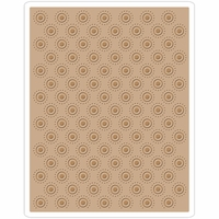 Sizzix Texture Fades By Tim Holtz A2 Embossing Folder - Dotted Bullseye