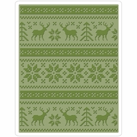 Sizzix Texture Fades By Tim Holtz A2 Embossing Folder - Holiday Knit