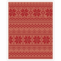Sizzix Texture Fades By Tim Holtz A2 Embossing Folder - Holiday Knit #2