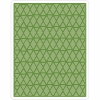 Sizzix Texture Fades By Tim Holtz A2 Embossing Folder - Lattice
