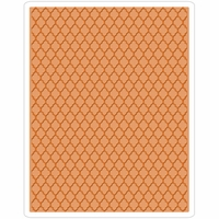 Sizzix Texture Fades By Tim Holtz A2 Embossing Folder - Trellis