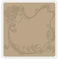 "Sizzix Textured Impressions 6""x6"" Embossing Folder - Nouveau Maiden By Vintaj"