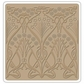 "Sizzix Textured Impressions 6""x6"" Embossing Folder - Nouveau Tiles By Vintaj"