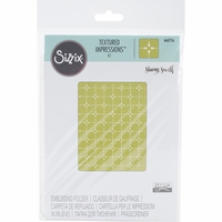 Sizzix Textured Impressions A2 Embossing Folder - Diamonds & Circles