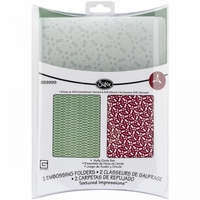 Sizzix A2 Embossing Folders - Holly Circle Set By Basic Grey