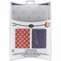 Sizzix Texture Fades A2 Embossing Folders By Tim Holtz® - Chevrons & Lattice