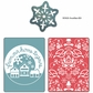 Sizzix Textured Impressions - BG Nordic Holiday From Our Home Yule