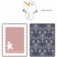 Sizzix Textured Impressions - BG Nordic Holiday Gingerbread Man Flwrs