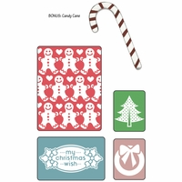 Sizzix Textured Impressions - BG Nordic Holiday My Christmas Wish