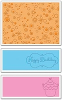 Sizzix Textured Impressions Embossing Flowers - Birthday #3