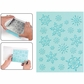 Sizzix Textured Impressions Embossing Folder & Stamp Set - Hero Arts Snowflake Bckgrnd