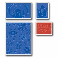 Sizzix Textured Impressions Embossing Folders - Christmas
