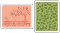 Sizzix Textured Impressions Embossing Folders - Fall