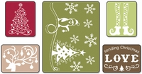 Sizzix Textured Impressions Embossing Folders - Sending Christmas Love