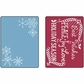 Sizzix Textured Impressions Embossing Folders - Snowflake Season