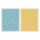 Sizzix Textured Impressions Embossing Folders - Swirls & Squares In Ovals
