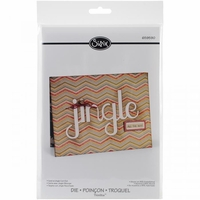 Sizzix Thinlits Die Card w/Jingle Cut-Out