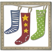 Sizzix Thinlits Die - Christmas Stockings