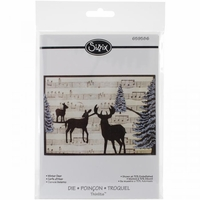 Sizzix Thinlits Die - Winter Deer Card Front For A6