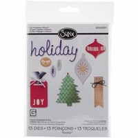 Sizzix Thinlits Dies By Basic Grey - Holiday Icons, Ornaments & Tags