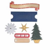 Sizzix Thinlits Dies By Basic Grey - Labels & Snowflakes