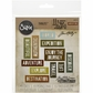 Sizzix Thinlits Dies By Tim Holtz - Adventure Words Block