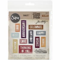 Sizzix Thinlits Dies By Tim Holtz® - Celebration Block Words