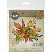 Sizzix Thinlits Dies By Tim Holtz - Fall Foliage
