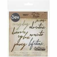 Sizzix Thinlits Dies By Tim Holtz - Handwritten Journey