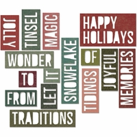 Sizzix Thinlits Dies By Tim Holtz® - Holiday Words #2/Block
