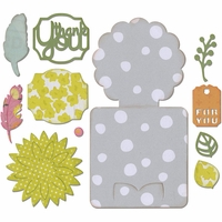 Sizzix Thinlits Dies - Fall Flowers Card