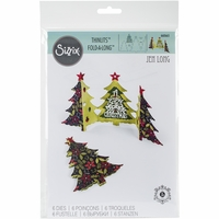 Sizzix Thinlits Dies - Fold-A-Long Christmas Tree Card