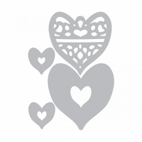 Sizzix Thinlits Dies - Layering Heart Medallions