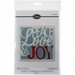 Sizzix Thinlits Dies - Peace, Love & Joy Card