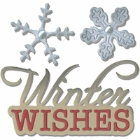 Sizzix Thinlits Dies - Winter Wishes Phrase & Snowflakes