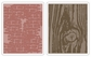 Sizzix Tim Holtz Texture Fades Embossing Folders - Bricked & Woodgrain