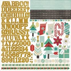 "Snow Village Cardstock Stickers 12""x12"" - Element - Click to enlarge"