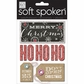 Soft Spoken Themed Embellishments - Don't Open - Ho Ho Ho