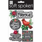 Soft Spoken Themed Embellishments - Ellen- Merry Christmas