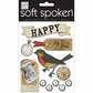 Soft Spoken Themed Embellishments - Fly Free